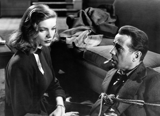 Lauren Bacall, Humphrey Bogart in The Big Sleep (1946)